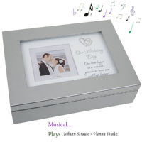 Wedding Musical Keepsake Box Gift ~ Plays A Beautiful Strauss Waltz
